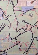 SEEN - graffiti sur plan métro NYC subway MTA map -cope2/futura/taki/quik/dondi