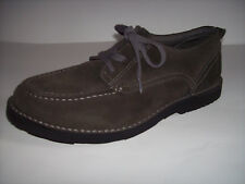 L.L.BEAN Men's gray suede leather casual lace-up shoes US Sz 9.5W (EE) EXCELLENT