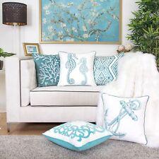 Homey Cozy Coastal Throw Pillow Cover,Premium Embroidery Beach Decor ...