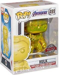 """MARVEL AVENGERS ENDGAME GOLD CHROME HULK 3.75"""" POP VINYL FIGURE FUNKO 499"""