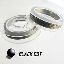 Stahldraht Silberfarbe mit Coating Schmuckdraht 0,38mm Rolle ca. 10 Meter