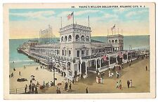CAMEL Sign YOUNG'S Million Dollar Pier Atlantic City NJ Postcard Vintage Unused