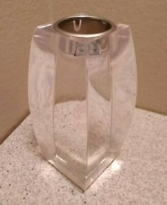 Vintage Ritts Astrolite Lucite Candle Holder Mid Century Modern