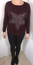 Stars Jumper Sparkly Wine Pearls Crystals Studs Hearts Soft Feel One Size NEW