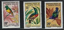Burkina Faso SC136-138 Birds:PigmyLongtaleSunbird-OliveBeliedSunbird-SplendidMNH