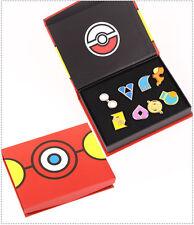 Pokemon Gym Badges in box Hoenn League Set 8 Badge Pins Gift(Box Color Random)