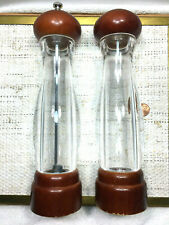 Olde Thompson Carbon Steel Pepper Mill & Salt Shaker Clear Acrylic&Wood 2 PC Set