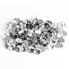 100 x 22MM Crystal Sofa Headboard Upholstery Nails Buttons Tacks X1B1