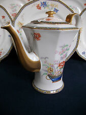 HAVILAND LIMOGES GANGA (1920+) COFFEE/TEA POT-PILGRIM SHAPE! GREAT! lid hairline