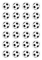24 Football Cupcake Fairy Cake Toppers Edible Rice Wafer Paper Decorations