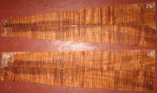 """Hawaiian curly koa Aaaa veneer, 2 bookmatch, 4 pcs 19"""" long, 1/8"""" thick"""