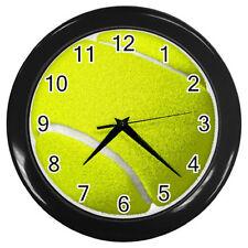 New Sport Wall Clock Tennis Ball Design Clock Tennis #BLACK or #SILVER rare!