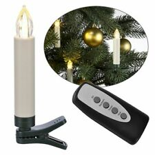 10 Wireless LED Christmas Candles Tree Holiday Lights + Remote Control