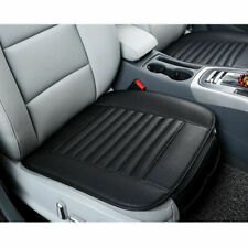 2x Black Universal PU Leather Front Car Seat Cover Cushion Bamboo Charcoal Pad