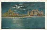 ATLANTIC CITY NJ–Denis, Marlborough Blenheim, Brighton, Traymore Hotels by Night