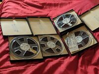 LOT of 4 Reel To Reel Tapes Magnetic RARE Emil Ascher Inc  Verified Content PR
