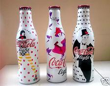 COCA COLA Marc Jacobs limited edition coke bottles 2013 rare set 3 FRANCE