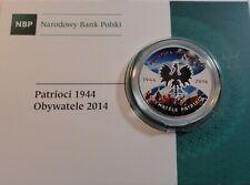 20 ZL ZLOTYCH POLAND  POLEN 2014  Patriots 1944 Citizens 2014 Coloured RARE