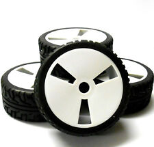 180011 1/8 Scale On Road Buggy RC Wheels and Tyres Disc White x 4