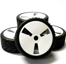 180011 1/8 échelle route Buggy RC roues et pneus Disque Blanc x 4