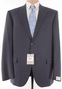 Corneliani NWT Suit Size 48R In Grays & Blue Birdseye Wool $2,195