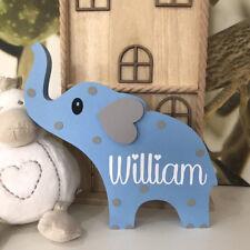 Freestanding Personalised Baby Childrens Elephant 1st Birthday Baby Shower Gift