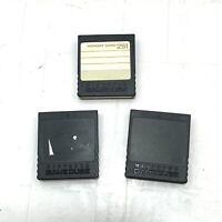 Lot of 3 Nintendo Gamecube Memory Cards - Black 251 Block Authentic OEM DOL-014
