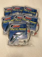 AFW Tooth Proof #09 Stainless Steel Single Leader Wire 105lb Brown 30ft Lot Of 7