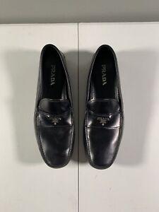 Men's Prada Slip On Loafers Size 11 Black Leather