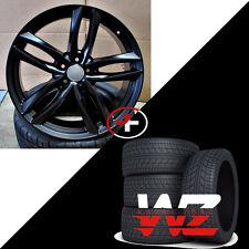 "20"" 1196 Style Wheels Satin Matte Black W/Tires Fits Audi A4 A5 A6 TT VW Rims"