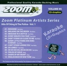 Zoom Karaoke Platinum Artists Series Vol 95 Hits Of Sting & The Police CD+G New
