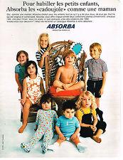 PUBLICITE ADVERTISING  1969   ABSORBA  pyjamas CADOUJOULE
