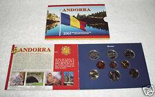 manueduc  CARTERA ANDORRA 2003  7 Monedas mas  2 de 1 Euro Italia y Grecia