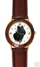 Montre Chien BRIARD  Noir - Watch with Black BRIARD DOG