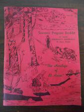 "SOUVENIR PROGRAM BOOKLET ST. ANNE, ILLINOIS "" THE HERITAGE OF ST. ANNE 1950"