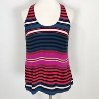 JOIE Women's SMALL Multi-Color Stripe DREW Silk Racerback TANK TOP