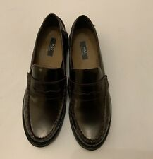 Spencer Leather Penny Loafers Size