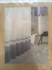 Park B Smith Ultra Spa White Plum Purple Waffle Shower Curtain 100% Cotton