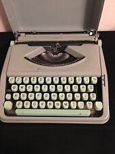 Vintage Hermes Baby Typewriter Sea-Foam Green & Mint keys