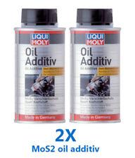 2x Molybdenum Disulfide MoS2 oil additive Treatment Creates film on engine part