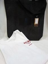 Hard Rock Cafe Set ORLANDO White T Shirt  Medium NEW & Black Tote NEW Faux Skin