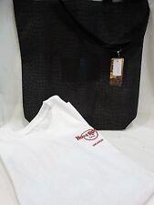 Hard Rock Cafe Set ORLANDO White T Shirt  Medium NEW & Black Tote NEW Faux Skin