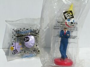 """8"""" Collectable """"JACK IN THE BOX"""" BOBBLE HEAD FIGURE Plus A Create-A-Bot"""