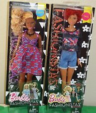 Two Barbie Fashionistas African American Barbie Dolls 57 & 33 New In Box