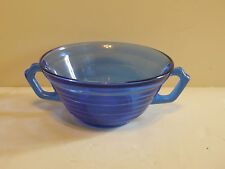 Moderntone 2 Handled Soup Bowl...Cobalt Blue..Excellent Condition