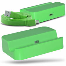 Green Micro USB Desktop Charging Dock & Data Cable For Samsung Galaxy S3