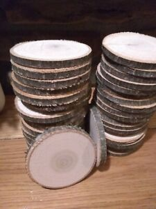 "15 piece 2.5""- 3"" poplar Log Slices Wood Disk  Wedding Centerpiece Christmas"