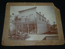 Vintage B&W photograph Country store Jas Arons General Mercantile horse & wagon