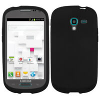 For Samsung T599 (Galaxy Exhibit) Solid Skin Case Cover (Black)