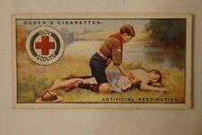 Vintage - 1900's - Ogdens - Boy Scouts - Series 4 Card - Artificial Respiration